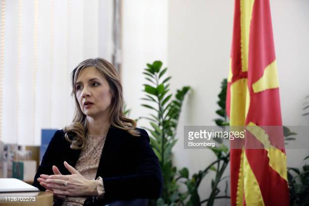 Anita AngelovskaBezhoska governor of the National Bank of the Republic of Macedonia speaks during an interview at the bank's headquarters in Skopje...