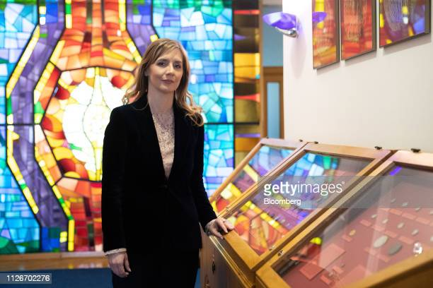 Anita AngelovskaBezhoska governor of the National Bank of the Republic of Macedonia poses for a photograph at the bank's headquarters in Skopje...