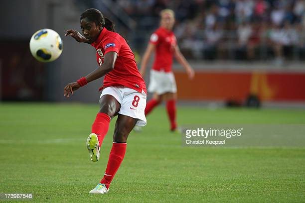 Anita Asante of England shoots the ball during the UEFA Women's EURO 2013 Group C match between France and England at Linkoping Arena on July 18 2013...