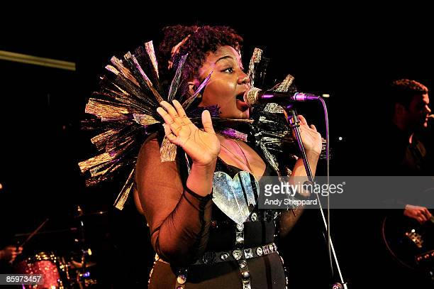 Anita Blay of Thecocknbullkid performs on stage at the Peaches After Show Party at Royal Festival Hall on April 10 2009 in London England