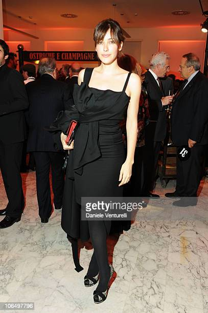 Anita Caprioli attend The Bulgari Express for Save The Children Cocktail Party at the Salone delle Fontane on November 3 2010 in Rome Italy