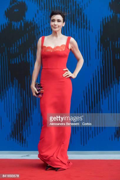 Anita Caprioli attends the The Franca Sozzani Award during the 74th Venice Film Festival at Sala Giardino on September 1 2017 in Venice Italy