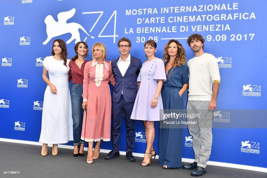 Anita Caprioli, Silvia D'Amico, Isabella Ferrari, Francesco Patierno, Barbora Bobulova, Carlotta Natoli and Michele Riondino attend the 'Diva!' photocall during the 74th Venice Film Festival on September 2, 2017 in Venice, Italy.