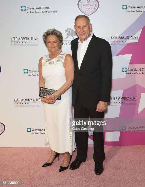 "Anita Cosgrove and her husband, Cleveland Clinic President and CEO Dr. Toby Cosgrove, attend Keep Memory Alive's 21st annual ""Power of Love Gala""..."