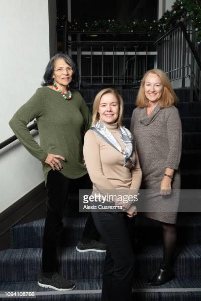 Anita DeFrantz vice president International Olympic Committee Sarah Hirshland CEO US Olympic Committee and Susanne Lyons Chair US Olympic Committee...