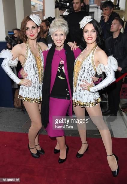 Anita Dobson attends the opening night of '42nd Street' at Theatre Royal on April 4 2017 in London England The opening night is a fundraising event...