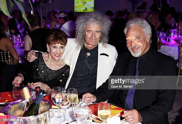 Anita Dobson Brian May and Tom Jones attend the second annual 'Freddie For A Day' event in memory of Queen's late frontman Freddie Mercury at The...