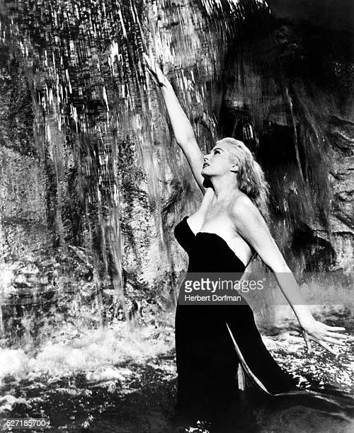 Anita Ekberg in a scene from the Fellini film La Dolce Vita