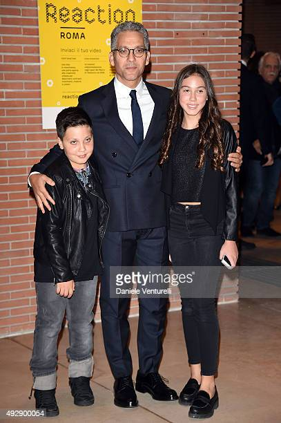 Anita Fiorello Beppe Fiorello and Nicola Fiorello attend a photocall for 'Era D'Estate' during the 10th Rome Film Fest at Auditorium Parco Della...