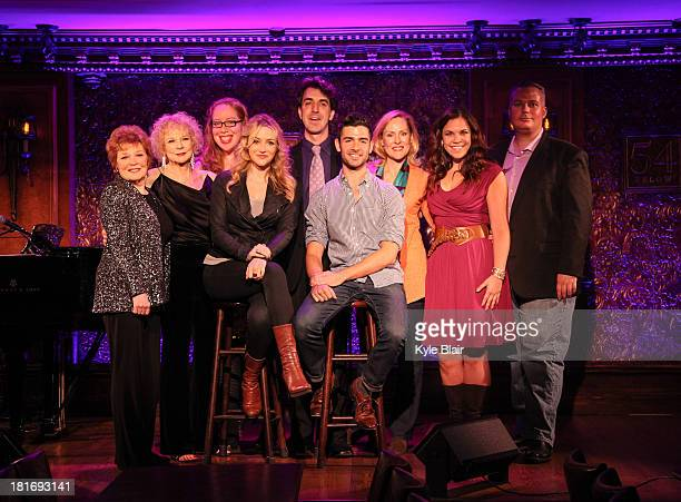 Anita Gillette Penny Fuller Betsy Wolfe Jason Robert Brown Adam Kantor Donna English and Lindsay Mendez attend the press preview for The Last Five...