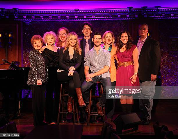Anita Gillette Penny Fuller Betsy Wolfe Jason Robert Brown Adam Kantor Donna English Lindsay Mendez attend the press preview for The Last Five Years...