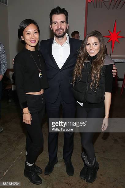 Anita Gou Producer Andrea Iervolino and Courtney Turk attend the To The Bone Premiere Party at the Stella Artois Filmmaker Lounge on January 22 2017...