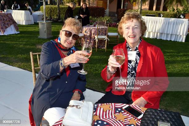 Anita Grashof and Veronica Haubert attend President Trump's one year anniversary with over 800 guests at the winter White House at MaraLago on...