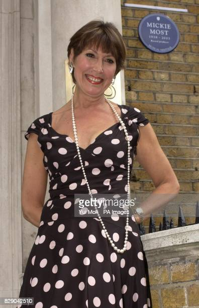 Anita Harris during the unveiling of a Heritage Foundation Blue Plaque in honour of the late record producer Mickie Most at RAK recording studios in...