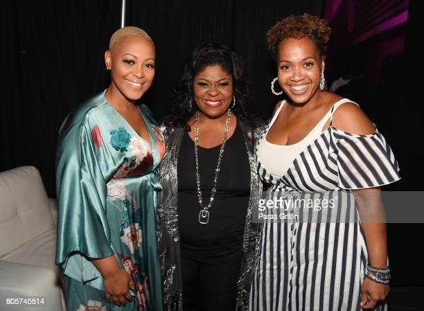 Anita Hawkins Kim Burrell and Tina Campbell pose backstage at the 2017 ESSENCE Festival presented by CocaCola at Ernest N Morial Convention Center on...