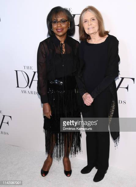 Anita Hill and Gloria Steinem attend 10th Annual DVF Awards at Brooklyn Museum on April 11 2019 in New York City
