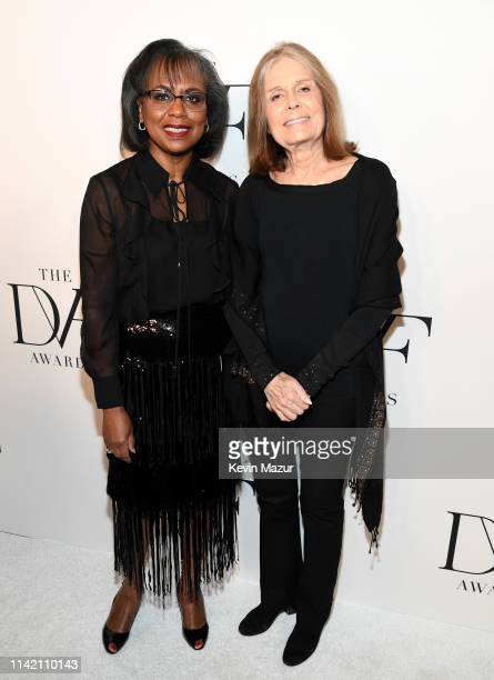 Anita Hill and Gloria Steinem attends 10th Annual DVF Awards at Brooklyn Museum on April 11 2019 in New York City