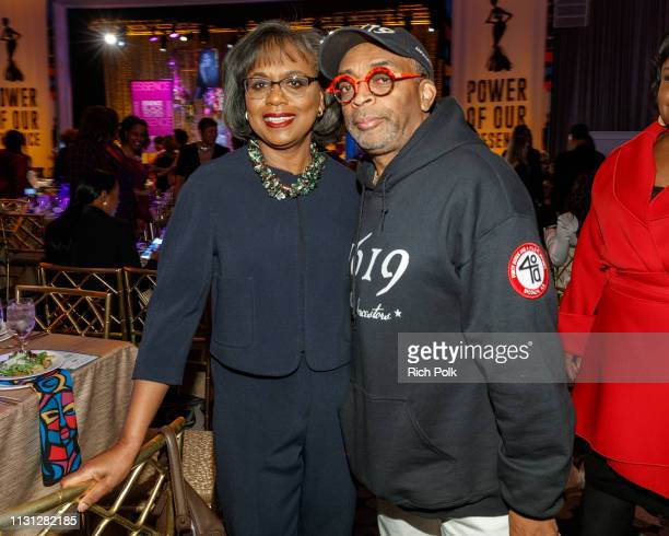 Anita Hill and Spike Lee attend the 2019 Essence Black Women in Hollywood Awards Luncheon at Regent Beverly Wilshire Hotel on February 21 2019 in Los...