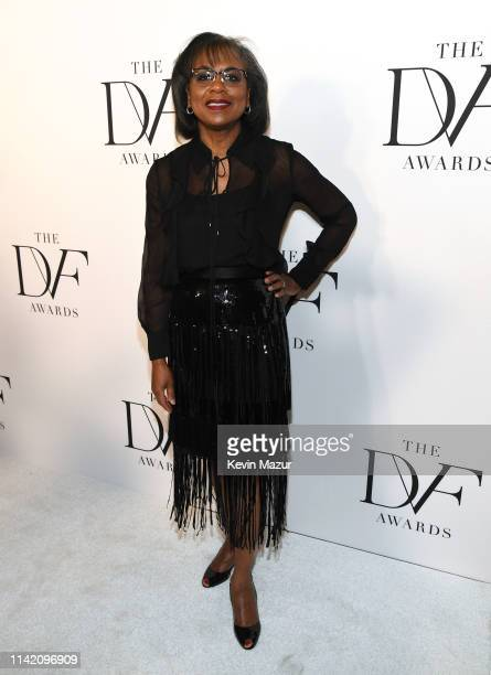 Anita Hill attends 10th Annual DVF Awards at Brooklyn Museum on April 11 2019 in New York City