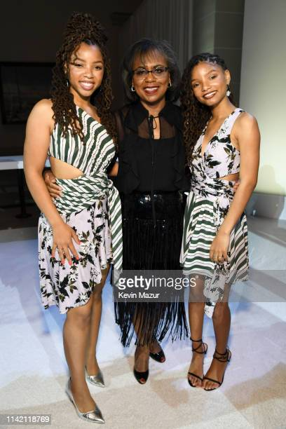 Anita Hill poses with Chloe X Halle during the 10th Annual DVF Awards at Brooklyn Museum on April 11 2019 in New York City