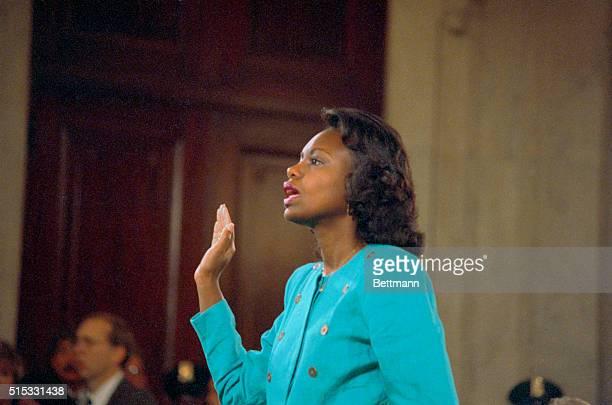 Anita Hill testifies before Senate Judiciary Committee on Oct 14 1991 'r'n