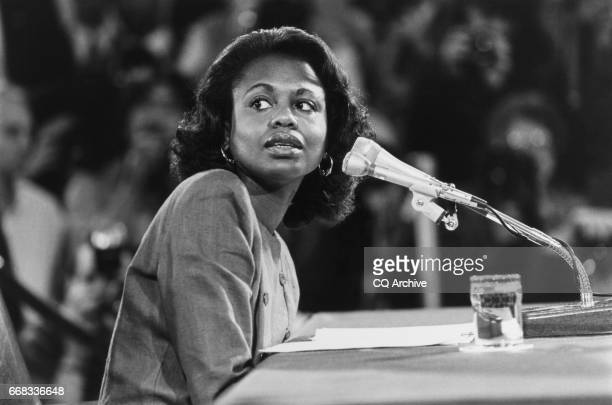 Anita Hill testifies before Senate Judiciary Committee on Oct 14 1991 rn