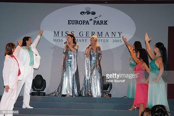 Anita Hofmann und Schwester Alexandra Hofmann und Balletttänzer Das große Miss GermanyTreffen Hotel Colosseo EuropaPark Rust BadenWürttemberg...
