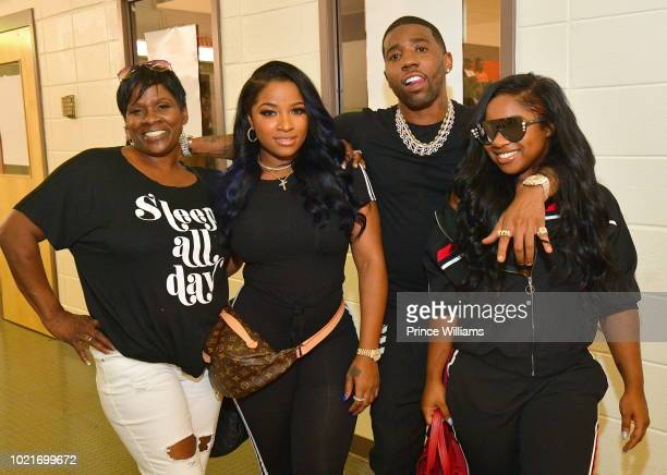 Anita Johnson-Andrews, Antonia Wright, YFN Lucci and Reginae Carter attend the Back 2 School Field Day at Grant Park Recreation Center on August 22,...