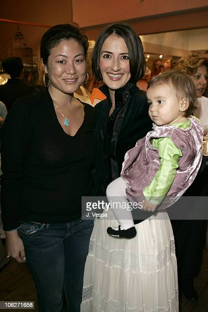 Anita Ko and Anna Getty with her daughter India during The Divine Mother Prenatal Yoga Series Launch Party at Tea House in Los Angeles, California,...