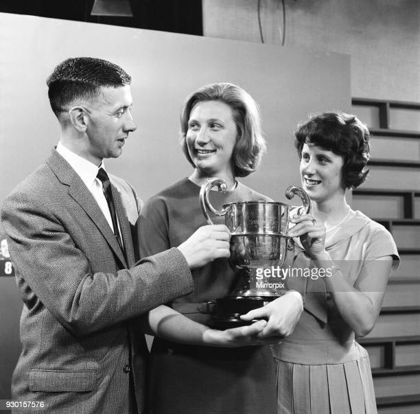 Anita Lonsbrough swimmer from Great Britain who won a gold medal at the 1960 Summer Olympics pictured after receiving Granada TV's Northern Sporting...