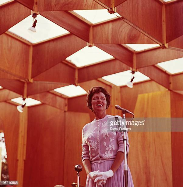 Anita O'Day performs on stage at the Beaulieu Jazz Festival in August 1961 in Beaulieu Hampshire Image is part of David Redfern Premium Collection