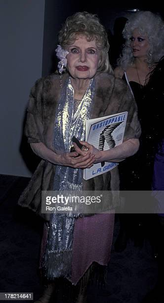 Anita Page attends Seventh Annual American Cinema Awards on January 27 1990 at the Beverly Hilton Hotel in Beverly Hills California