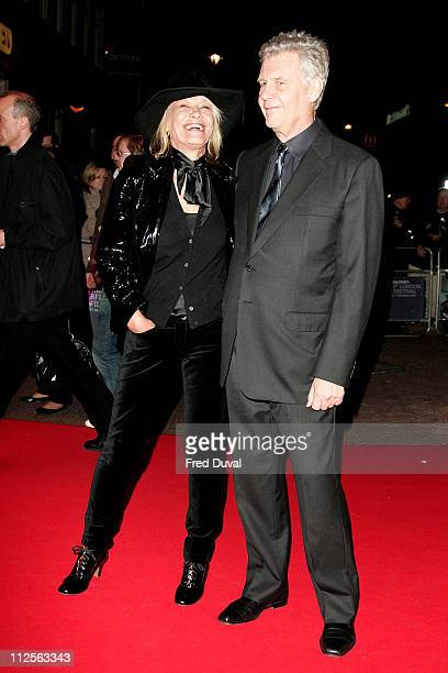 Anita Pallenberg and James Fox arriving at the Mister Lonely premiere on October 26 2007 in London England