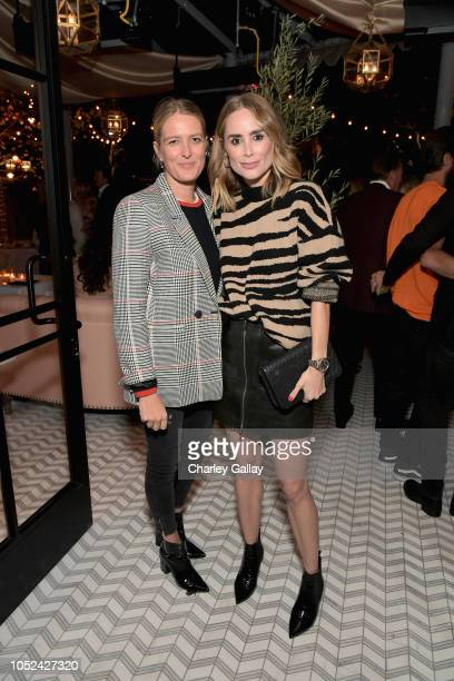 Anita Patrickson and Anine Bing attend Jennifer Meyer Celebrates First Store Opening in Palisades Village At The Draycott With Gwyneth Paltrow And...