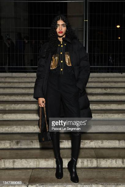 Anita Pozzo attends Burberry closing party for Anne Imhof's Exhibition 'Natures Mortes' at Palais de Tokyo on October 18, 2021 in Paris, France.