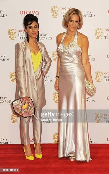Anita Rani and Emily Maitlis pose in the press room at the Arqiva British Academy Television Awards 2013 at the Royal Festival Hall on May 12 2013 in...