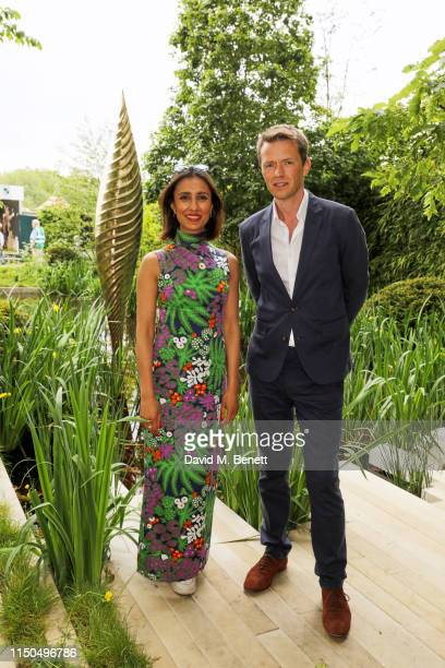 Anita Rani and garden designer Andrew Duff attend 'The Savills and David Harber Garden' which celebrates the environmental benefit and beauty of...