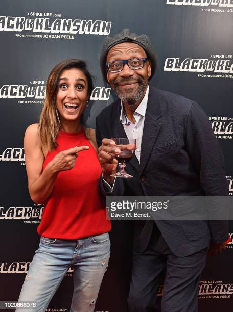 Spike Lee and Steve Stamp attend the Blackkklansman Special Screening at Ham Yard Hotel on August 21 2018 in London England