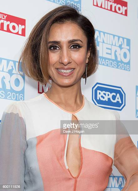 Anita Rani arrives for Daily Mirror and RSPCA Animal Hero Awards at Grosvenor House on September 7 2016 in London England