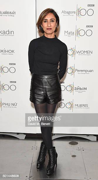 Anita Rani attends the BBC 100 Women gala hosted by the BFI at BFI Southbank on December 15 2015 in London England