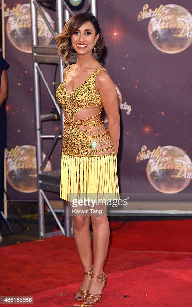 Anita Rani attends the red carpet launch of 'Strictly Come Dancing 2015' at Elstree Studios on September 1 2015 in Borehamwood England