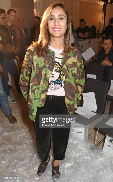 Anita Rani attends the Vin Omi Spring/ Summer 2018 show ahead of London Fashion Week September 2017 at Andaz London on September 11 2017 in London...