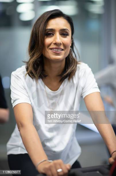 Anita Rani during training for the Comic Relief Kilimanjaro climb on February 07 2019 in London England