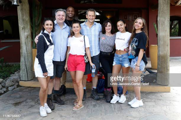 Anita Rani Ed Balls Osi Umenyiora Dani Dyer Alexander Armstrong Shirley Ballas LeighAnne Pinnock and Jade Thirlwall pose for the camera ahead of...