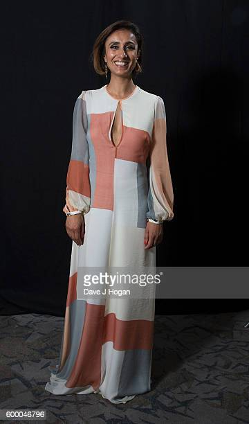 Anita Rani poses backstage at the Daily Mirror and RSPCA Animal Hero Awards at Grosvenor House on September 7 2016 in London England