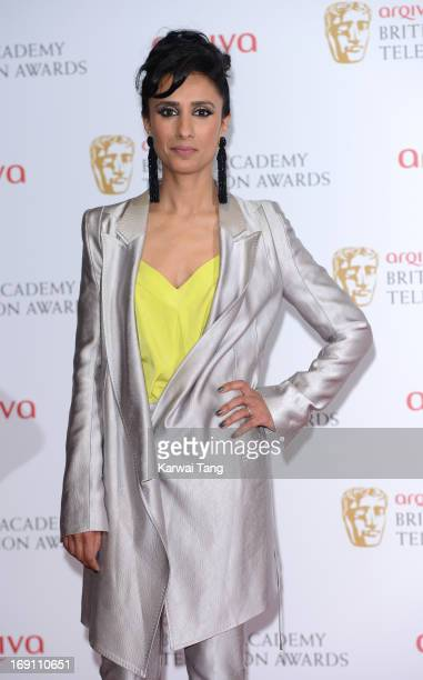 Anita Rani poses in the press room at the Arqiva British Academy Television Awards 2013 at the Royal Festival Hall on May 12 2013 in London England