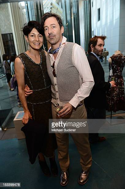 Anita Ratner and designer Gregory Parkinson attends the Director's Circle Celebration of WEAR LACMA Inaugural Designs by Johnson Hartig For Libertine...