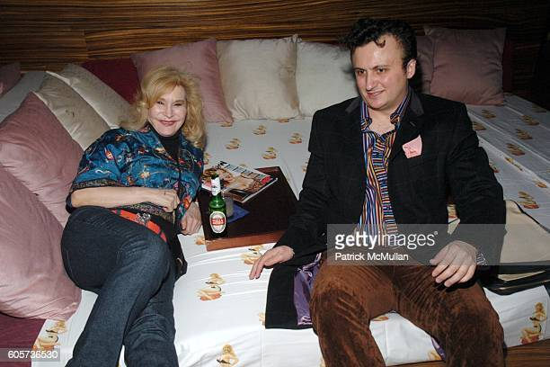 Anita Sarko and Erzen Krivca attend INTERVIEW MAGAZINE afterparty for the NY Premiere of THE NOTORIOUS BETTIE PAGE at Bed on April 10 2006 in New...