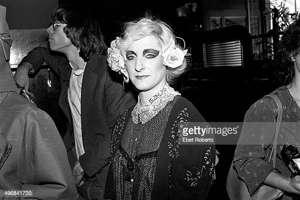 Anita Sarko at a Spandau Ballet fashion show at JS Vandon in New York City on May 4, 1981. Music writer David Fricke is behind her.