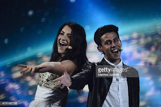 Anita Simoncini and Michele Perniola from San Marino perform on stage during rehearsals for the second Semi Final of the Eurovision Song Contest 2015...